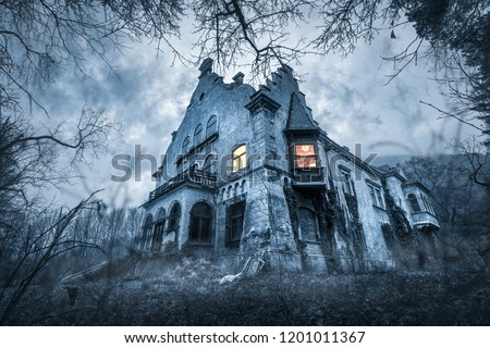 Old haunted abandoned house #1201011367