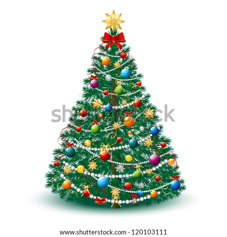 Beautiful Christmas Tree with toys