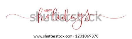 HAPPY HOLIDAYS brush calligraphy banner Royalty-Free Stock Photo #1201069378