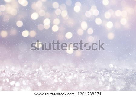 Christmas light background.  Holiday glowing backdrop. Defocused Background With Blinking Stars. Blurred Bokeh. #1201238371