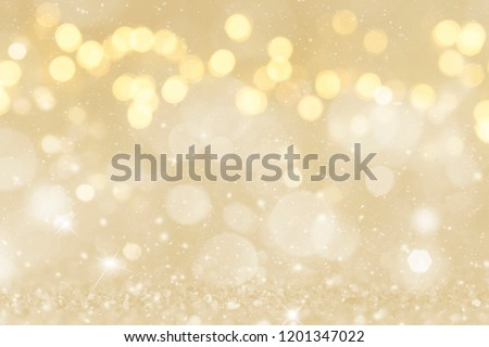 Christmas light background.  Holiday glowing backdrop. Defocused Background With Blinking Stars. Blurred Bokeh. Royalty-Free Stock Photo #1201347022