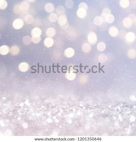 Christmas light background.  Holiday glowing backdrop. Defocused Background With Blinking Stars. Blurred Bokeh. #1201350646