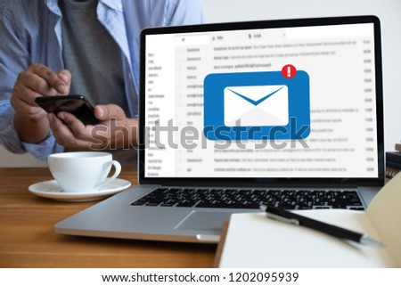 Mail Communication Connection message to mailing contacts phone Global Letters Concept #1202095939