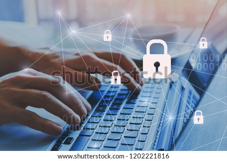 internet security and data protection concept, blockchain and cybersecurity #1202221816