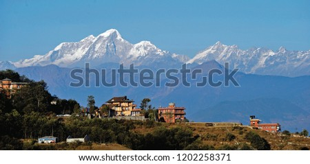 Nagarkot - Located 32 kilometers east of Kathmandu. It's a lovely place to visit where you can enjoy the local life of Nepal and spectacular views over the Himalayas during both sunrise and sunset.  #1202258371