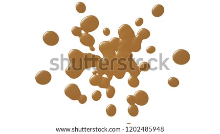 Background with paint. Divorces and drops. Periwinkles. #1202485948