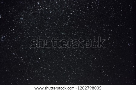 Galaxy Andromeda and the constellation Andromeda in the night sky
