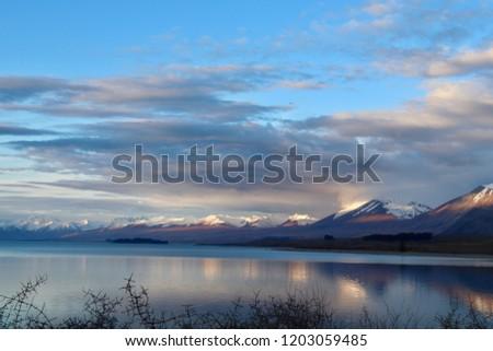 Beautiful nature backgrounds South Island New Zealand #1203059485