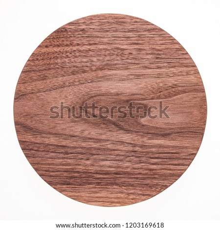 Round handmade black walnut small pallet #1203169618