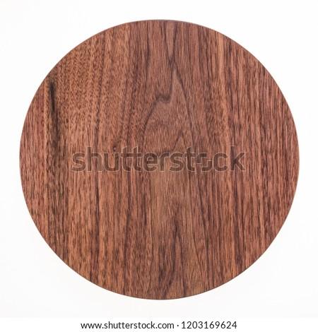 Round handmade black walnut small pallet #1203169624