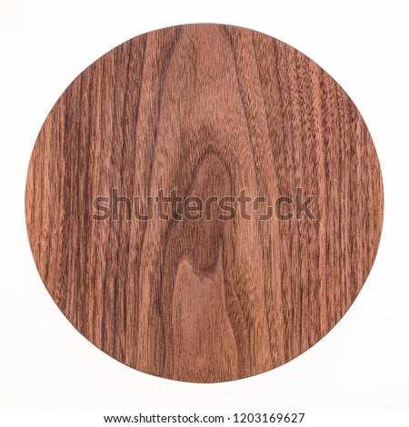 Round handmade black walnut small pallet #1203169627