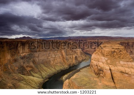 Horseshoe bend on the Colorado River #1203221