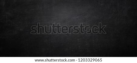 Dark and black chalkboard background, empty wall