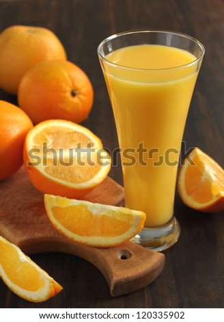 Orange juice and slices of orange #120335902
