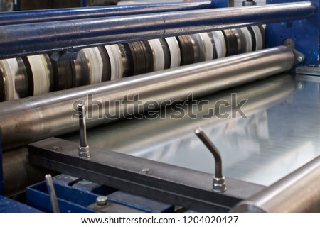 Elements of various sections of the galvanized steel processing line in rolls, manufacturing #1204020427