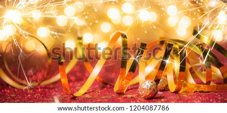 Christmas and New Year holidays background, winter season. Christmas greeting card #1204087786