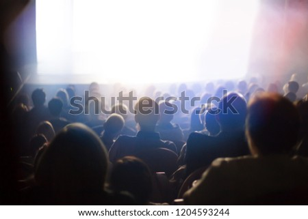 people watching play at the theater #1204593244