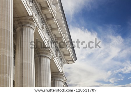 Courthouse or government building Royalty-Free Stock Photo #120511789