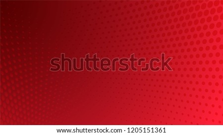 Abstract halftone dots dotted background in red colors presentation poster  Royalty-Free Stock Photo #1205151361
