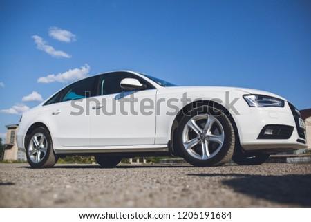 Ukraine Kyiv - 2018.05.31, Audi a4 TDI is a beautiful white car #1205191684