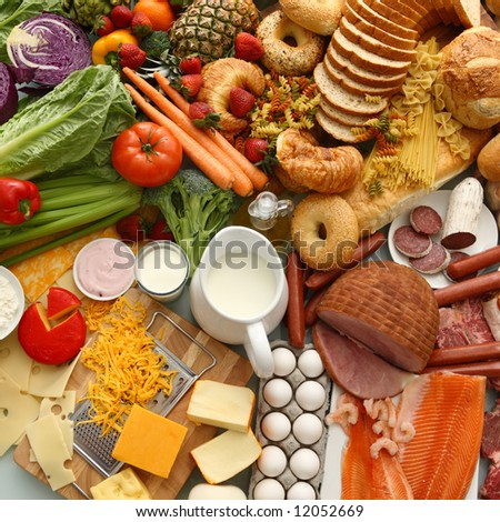 Overhead food background #12052669