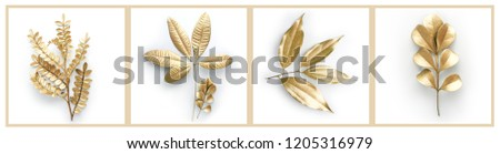 golden leaf isolated #1205316979