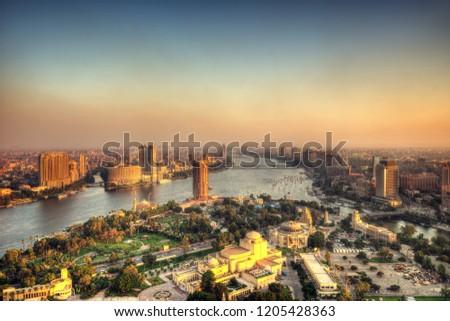 Cairo Skyline from Cairo Tower taken in 2015 #1205428363