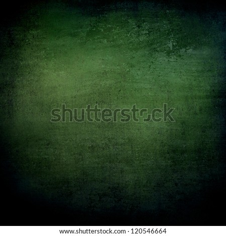 abstract green background or black background with lots of rough distressed vintage grunge background texture design, elegant blank background, black border edges with center spotlight text area