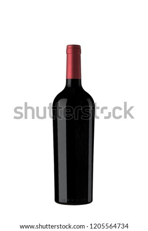 Red wine Bottle #1205564734