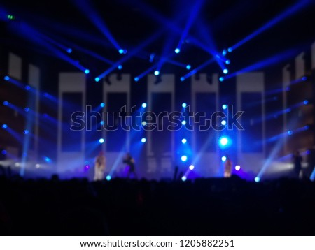 blurred light on a concert stage #1205882251