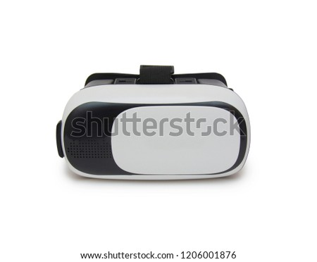 Virtual reality helmet isolated on the white background #1206001876