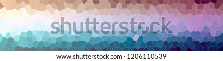 Illustration of blue and brown small hexagon background, abstract banner. #1206110539