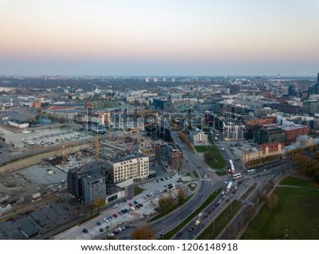 Aerial of city Tallinn, Estonia #1206148918