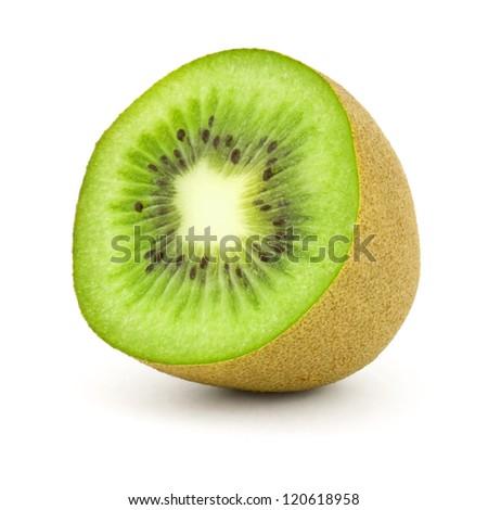 half kiwi isolated on white #120618958