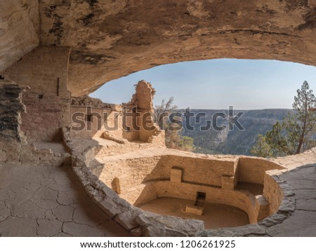 Balcony House cliff dwelling ruins of the ancient Pueblo people #1206261925