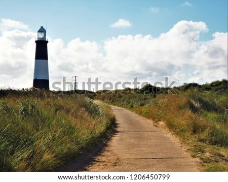 Path leading to the lighthouse on Spurn Point, East Yorkshire, England #1206450799