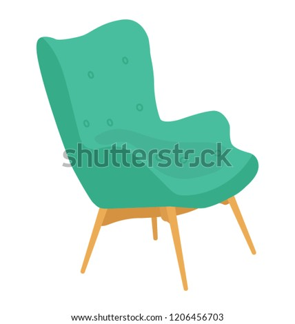 Chair flat colored icon #1206456703