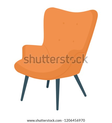 Chair flat colored icon #1206456970