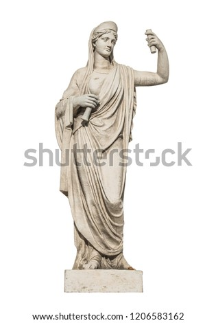 sculpture of the ancient Greek god Athena, isolate #1206583162