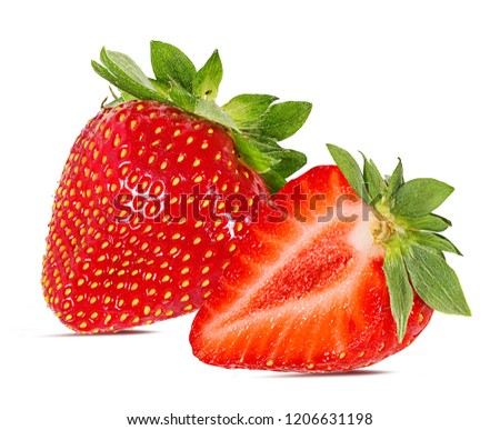 Fresh strawberry isolated on white background with clipping path #1206631198
