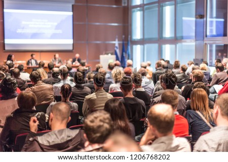 Business Conference and Presentation. Audience at the conference hall. #1206768202