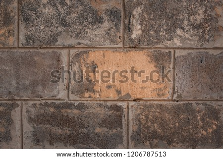 texture of large stone blocks that make up the wall close-up background for the design concept of architecture #1206787513