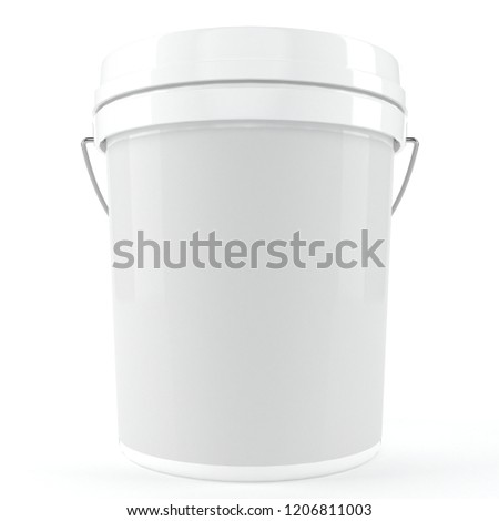 3D mockup white container #1206811003