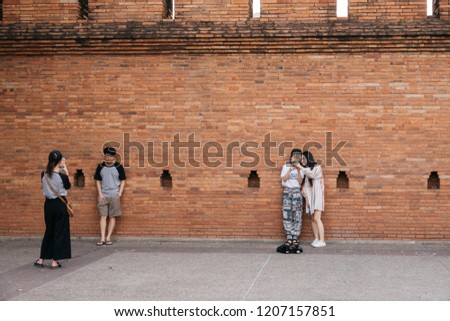 CHIANGMAI, THAILAND -May 06, 2018 :Tourism travel around Thapae Gate, Thapae Gate to the old city area of Chiang Mai. #1207157851