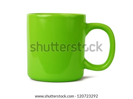 Green cup isolated on white #120723292