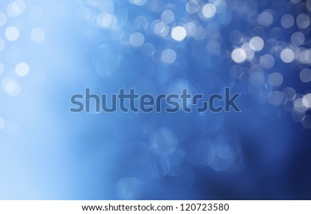 Lights on blue background.