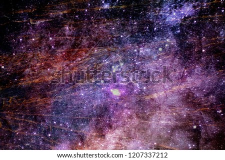 Abstract artistic multicolored galaxy texture on an abstract space background