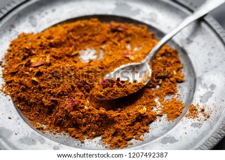 Ras el hanout, a spice mix from North Africa #1207492387