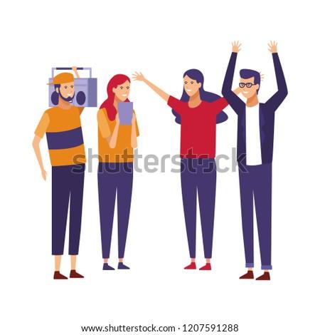 Young friends cartoon #1207591288