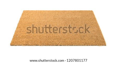 Blank Welcome Mat Isolated on White Background. Royalty-Free Stock Photo #1207801177